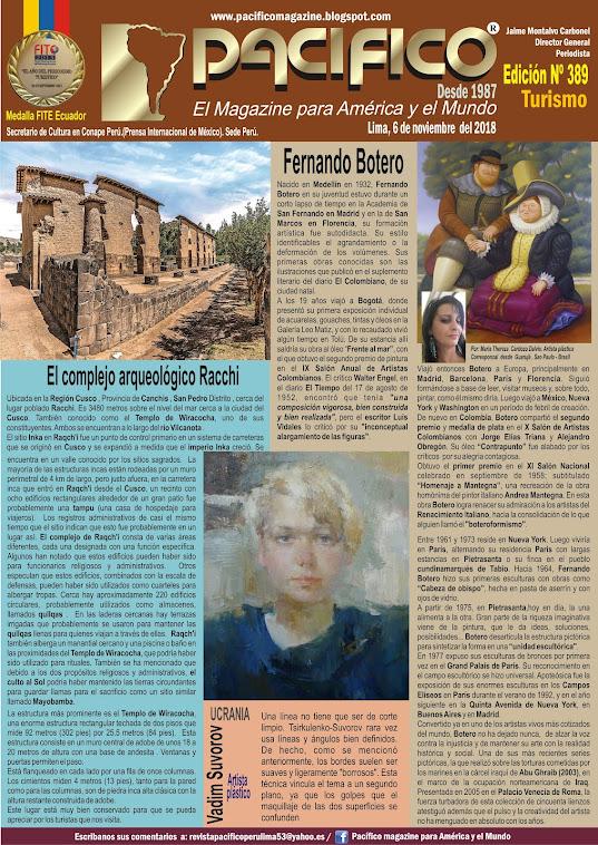 Revista Pacifico N° 389 Turismo