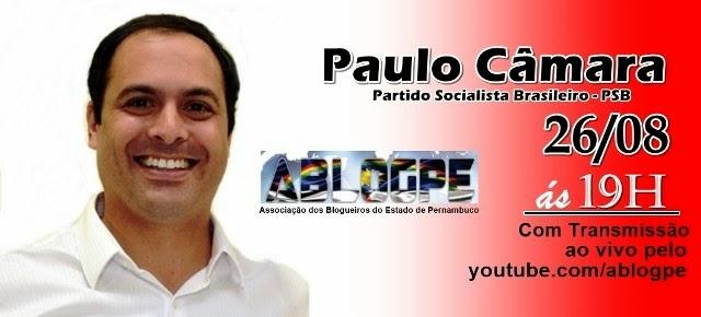 #AblogPE2014 Nesta terça, blogueiros conversam com o candidato ao Governo Paulo Câmara