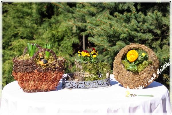 wiosenne ozdoby z naturalnych materiałów
