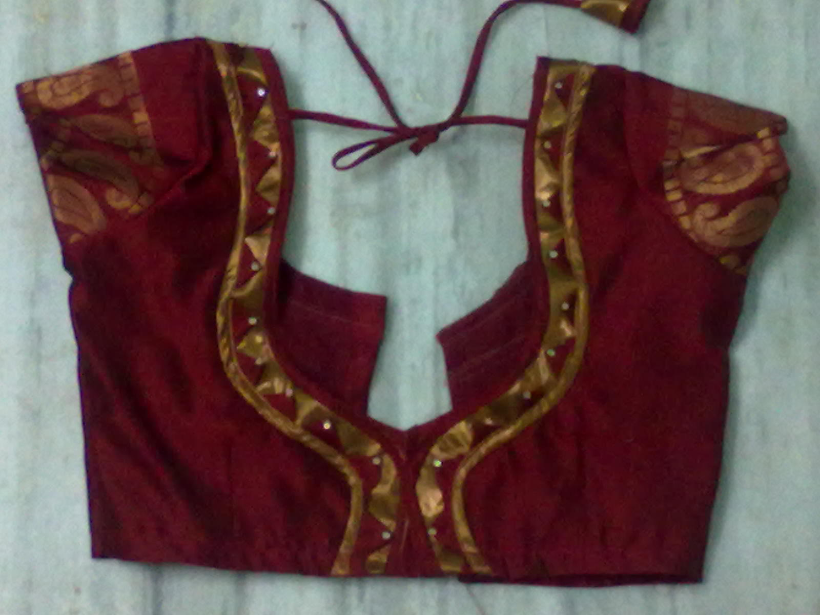 Indira designs: Used to stitch blouses new model pattern