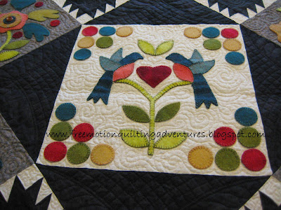 free motion quilting with ruler work by Amy K Johnson
