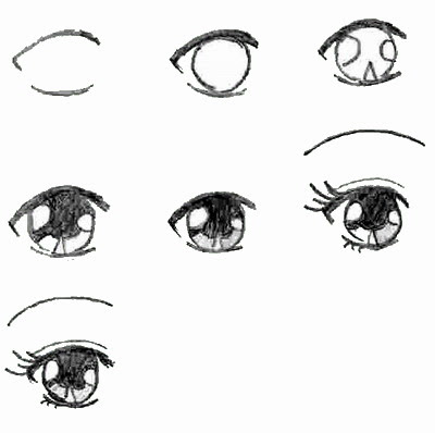 How to Draw Anime Eyes by Steps