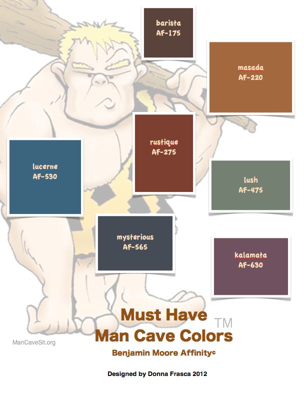 Man Caves Paint Colors : Color and the queen city man cave colors