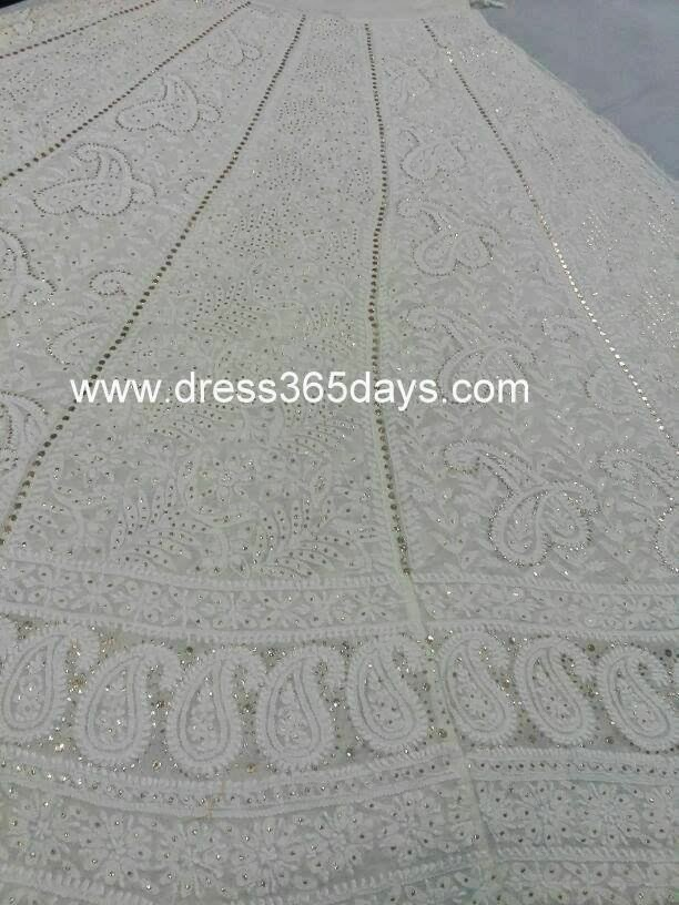 Chikan Lehenga for Marriage