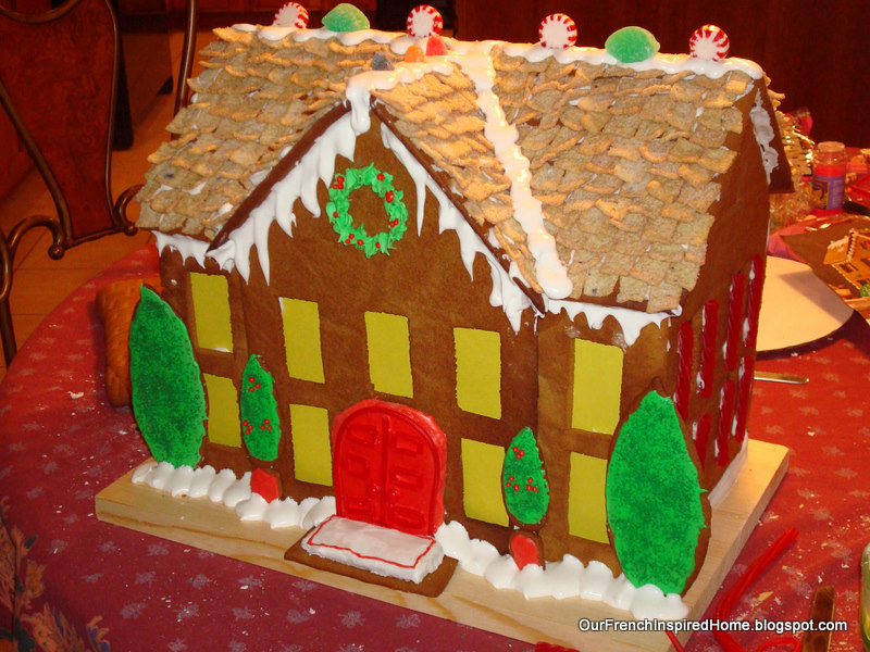 Again, We Wonu0027t Win Any Prizes From Martha Stewart, But I Think This Gingerbread  House Came Out Pretty Darn Close To Our Inspirational Photograph.