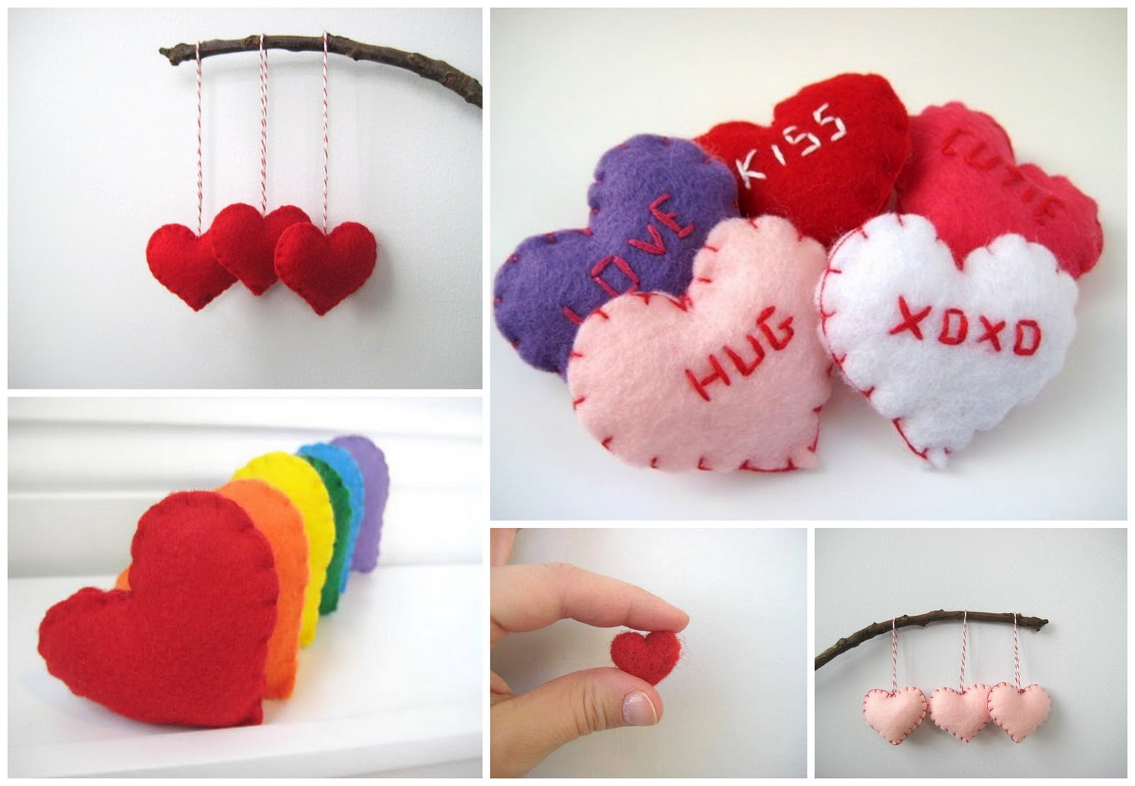 Cute felt heart wedding favours for Heart decoration ideas