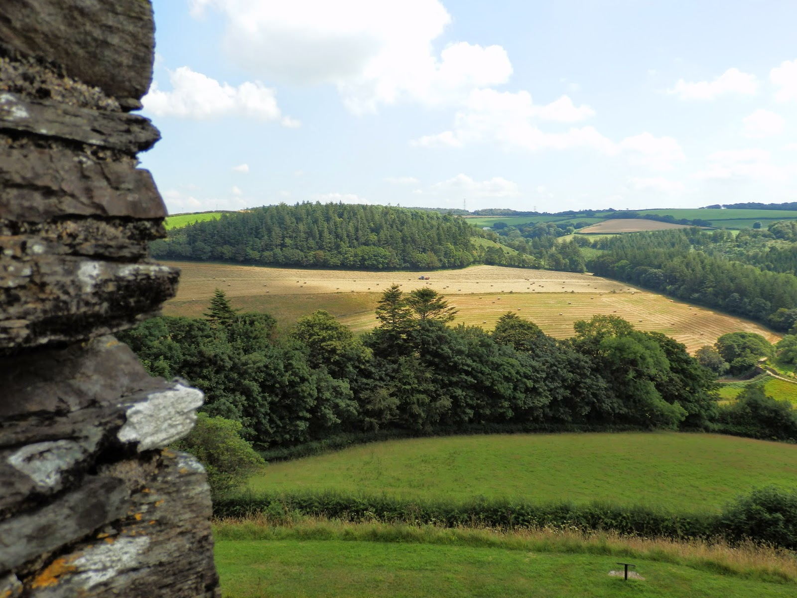 View from Restormel Castle battlements