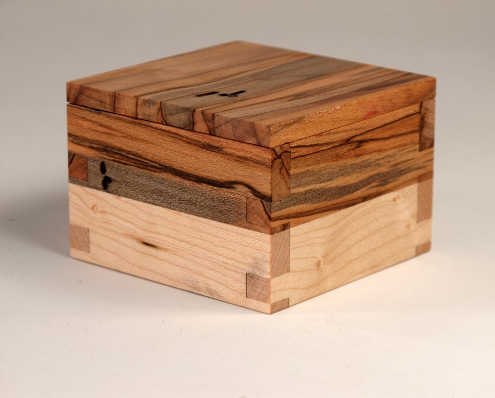Small Handmade Keepsake Box with Removable Lid