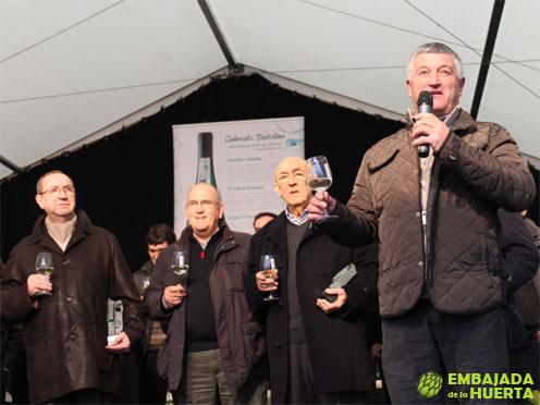 Brindis de honor en la presentación de la cosecha 2012 de la Denominación de Origen Txakolí de Getaria-Getariako Txakolina a cargo de su preidente Julián Ostolaza Manterola
