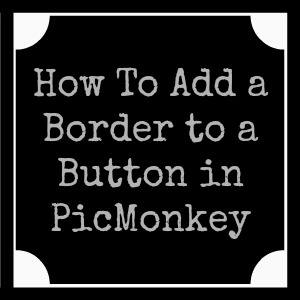 How to Add a Border to a Button/Image you've made in PicMonkey