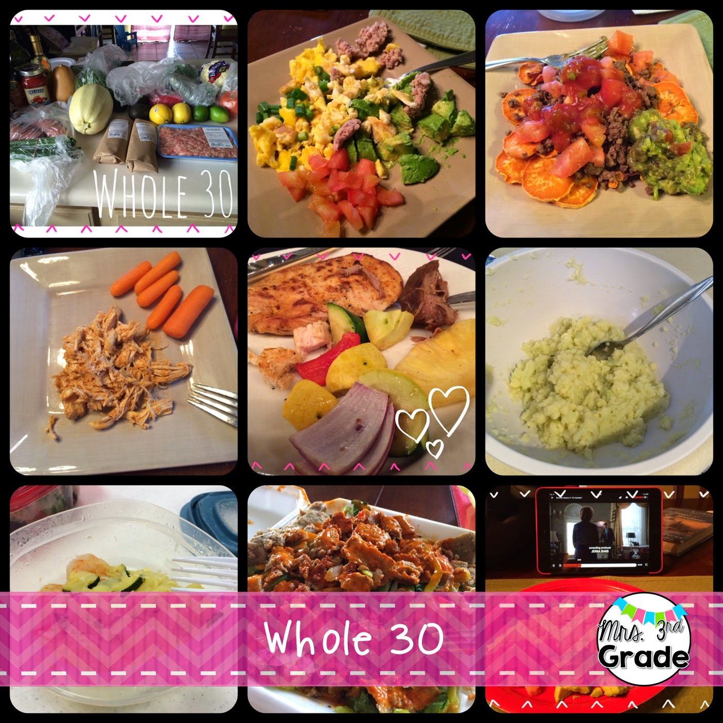 Whole 30 food for me!  Whole 30 is a great way to feel better, and eat healthy!
