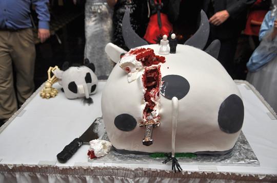 Black White Halloween Wedding Cake Toppers Fall