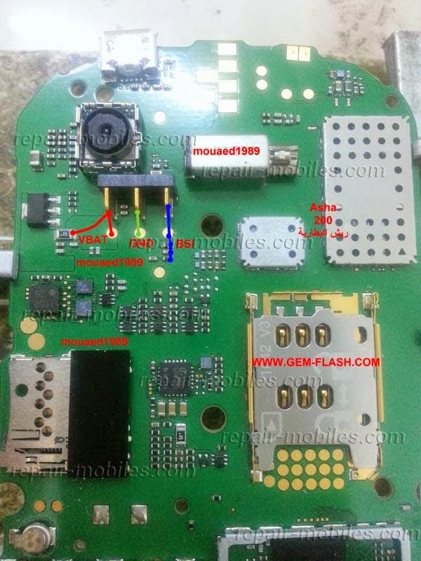 Jalur Baterai Nokia Asha 200