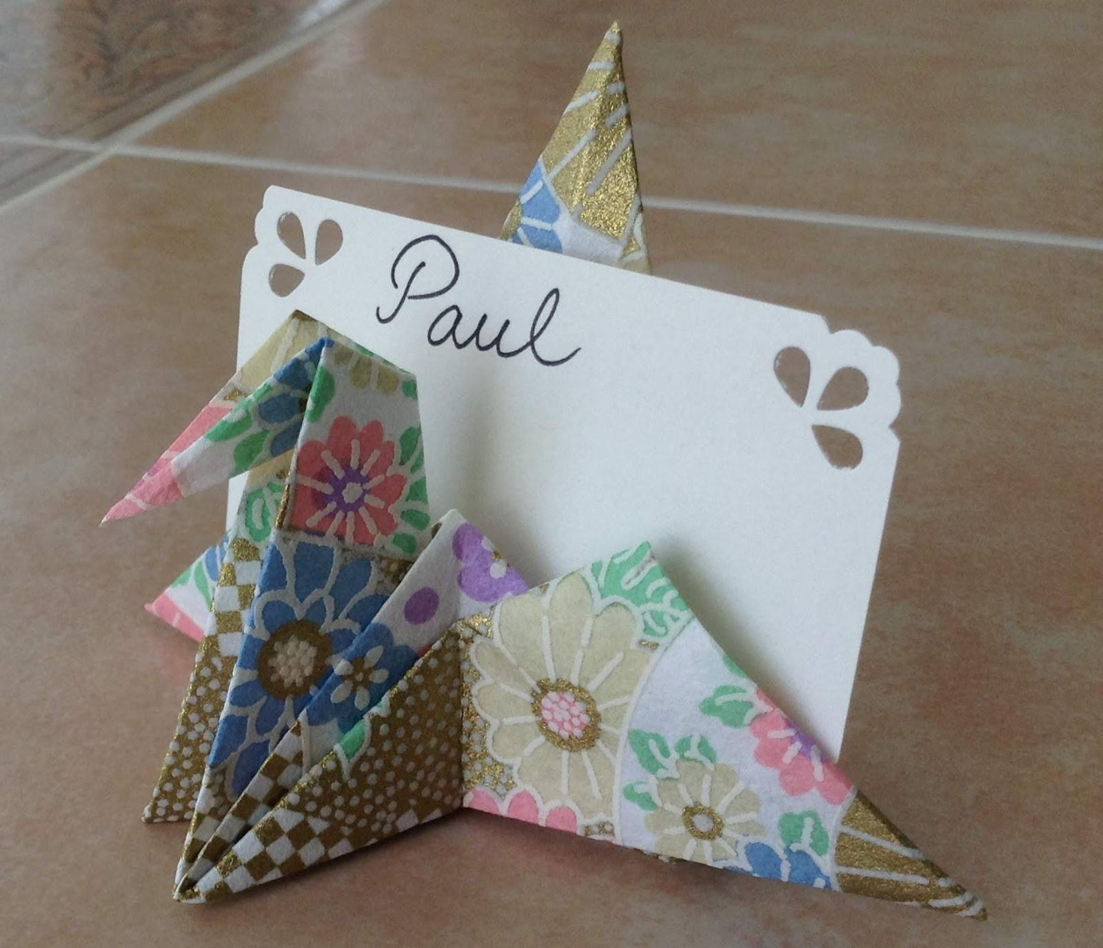 Origami Decorations Crane Place Card Holder