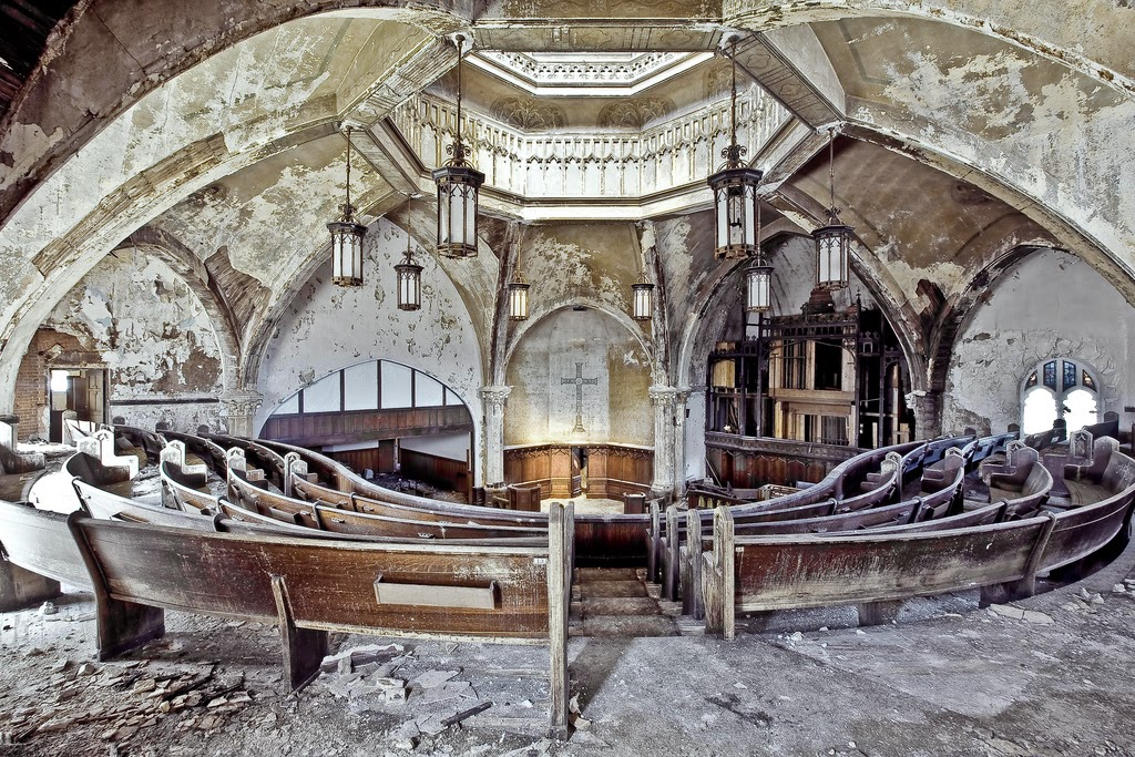 Abandoned Movie Theatre Detroit Michigan