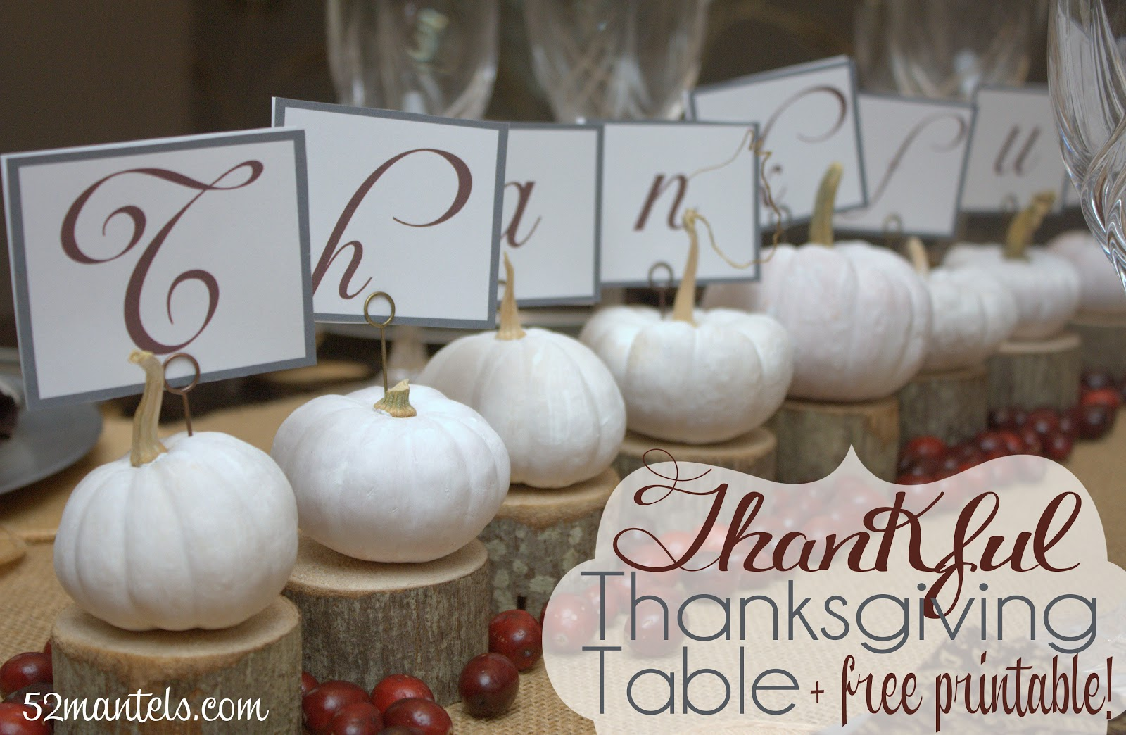 52 Mantels: Thanksgiving Centerpiece Ideas + a Live Google Hangout!