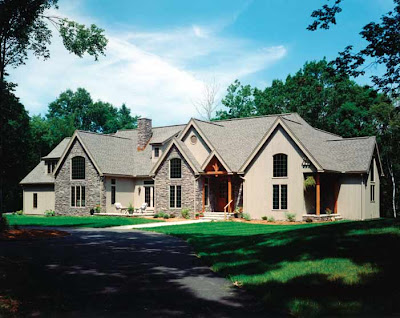 one story timber frame home