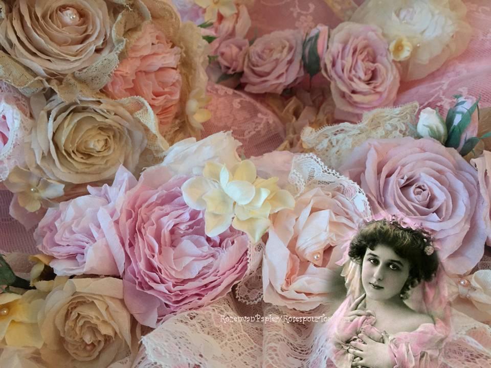 Veel rozen van papier....