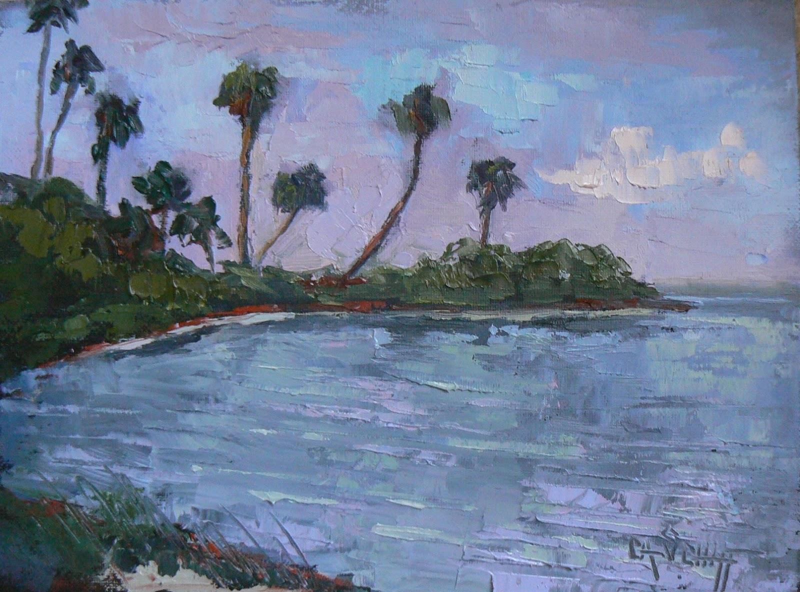 Palette Knife Painters Tropical Landscape Painting Art Sale