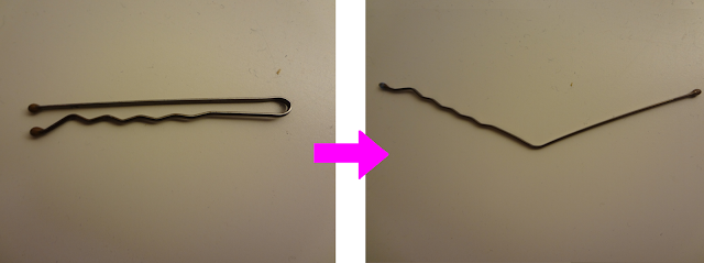 bobby pin for a nail polish tool