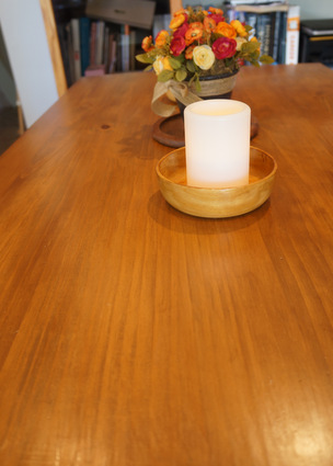 refinish table top tabletop stain water-based polycrylic