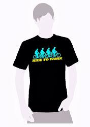 T Shirt Cotton Edisi Terhad. RIDE TO WORK