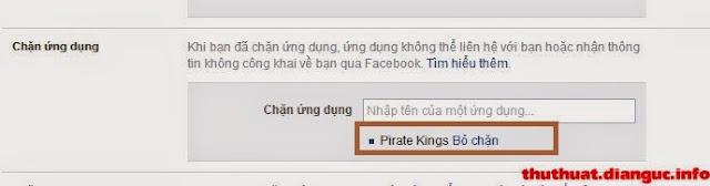Hướng dẫn chặn thông báo mời chơi Pirate Kings trên Facebook