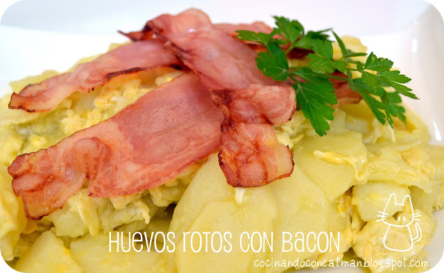 Huevos Rotos con Bacon con Thermomix