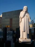 Statue across from the site of the Oklahoma City bombing