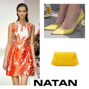 Queen Maxima Style - NATAN Dress and Clutch and Pumps