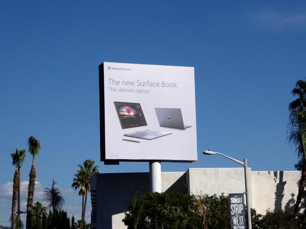 Surface Book billboard