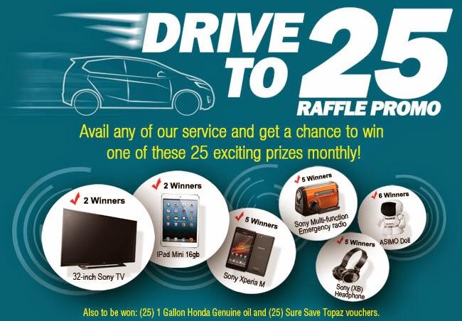 Honda Drive to 25 Raffle Promo
