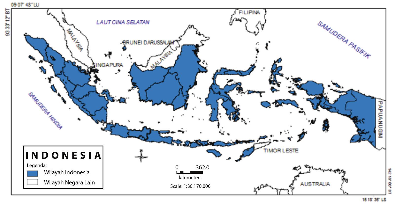 Letak Wilayah dan Pengaruhnya bagi Keadaan Alam Indonesia