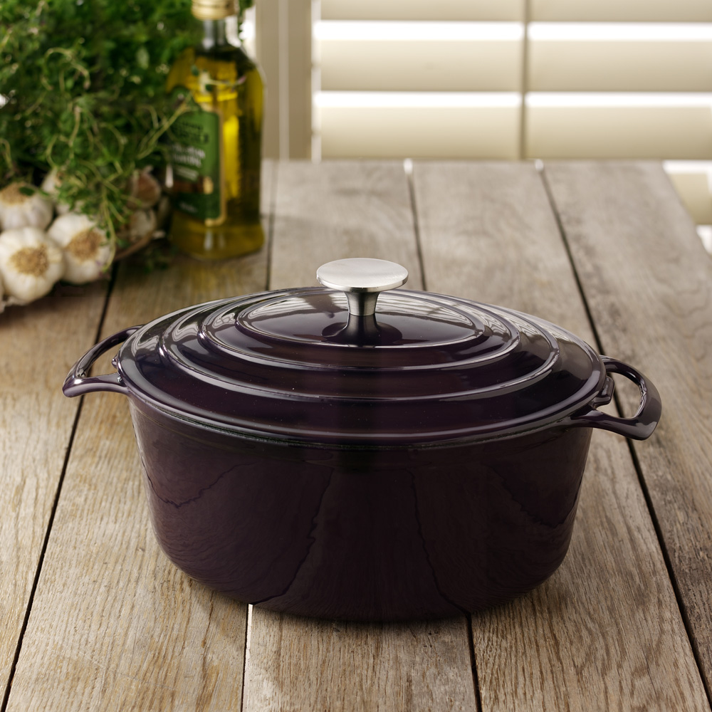 i love my enameled cast iron cookware nothing can really beat enameled cast iron for stews and braises it holds the heat well and is easy to clean