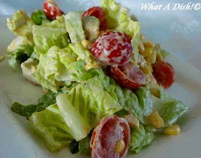 What A Dish!: Avocado-Corn Salad w/Creamy Salsa Dressing