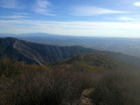 View southeast toward Glendora Ridge and the east end San Gabriel Valley from Summit 2843, Angeles National Forest