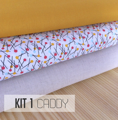 SAL CADDY TRAPO Y TELA PATCHWORK