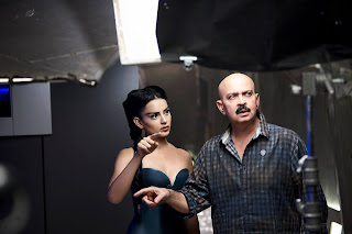 Kangana Ranuat with Rakesh Roshan on Krrish 3 sets