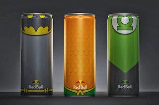Des canettes Red Bull aux couleurs des super-héros