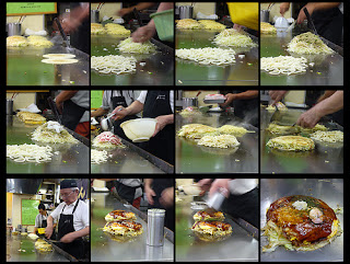 how to make Hiroshima style Japanese menu Okonomiyaki