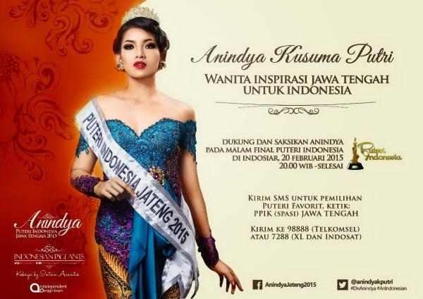 Pemenang Puteri Indonesia 2015 Anindya Kusuma Putri