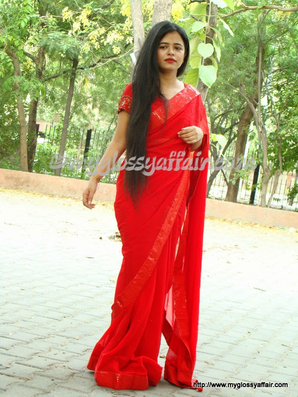 red saree