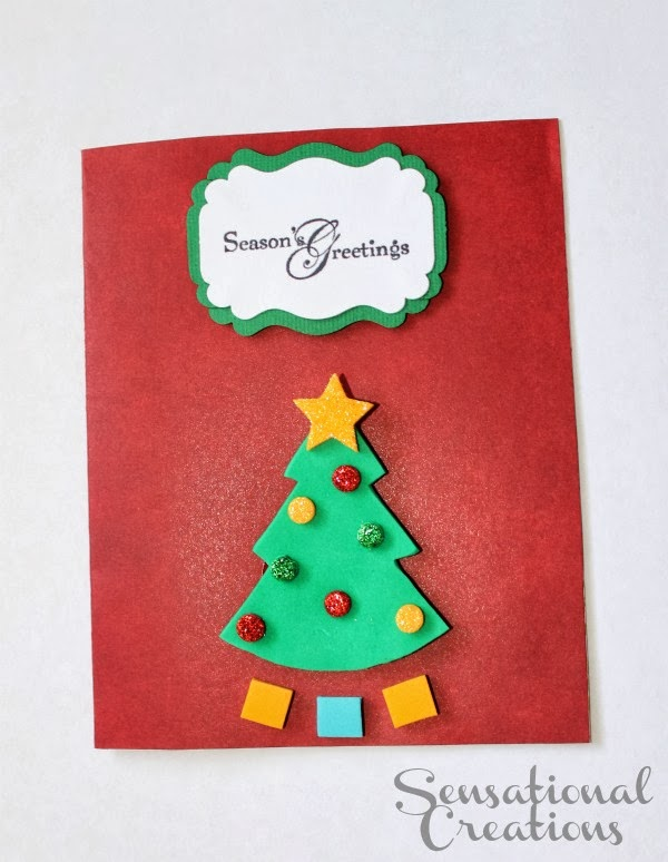 Candy Cane Place Card Holder & DIY Christmas Card