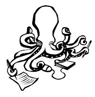 academic octopus multitasking writing publishing work technology teaching learning students