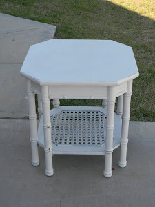 White Cottage End Table  *SOLD*