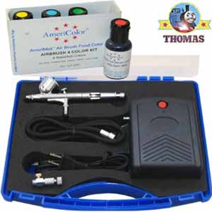 Percy Thomas the train precision dual action gravity feed coloring airbrush cake decorating system