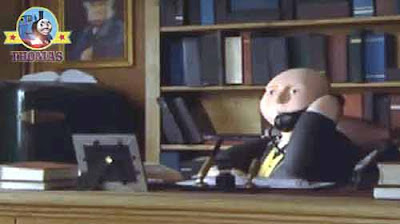The Fat Controller phoned Anopha quarry supervisor and the quarry manager see Thomas the small train