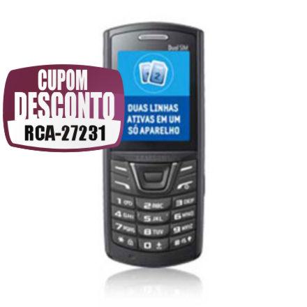 Cupom Efácil - Celular Samsung E2152 Duos Lite