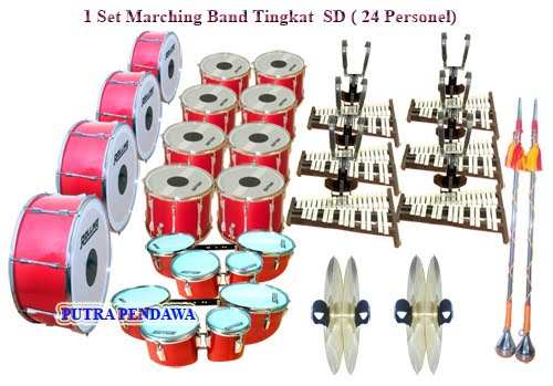 ALAT DRUM BAND SD SUPER QUALITY 24 PERSONEL