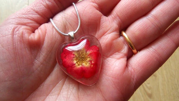 Real Rose in Resin Necklace